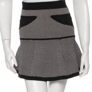 A.L.C. Flared Knit Mini Skirt